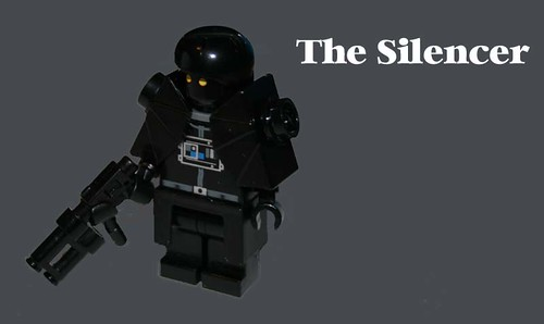 The silencer Lego space pirate custom minifig