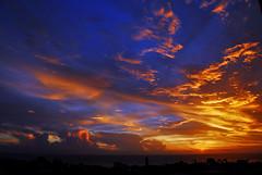 Another sunset... (jendayee) Tags: blue sunset red sky orange clouds martinique burning caribbean amazingcolors westindies photographyrocks enstantane worldbest absolutelystunningscapes goldenheartaward