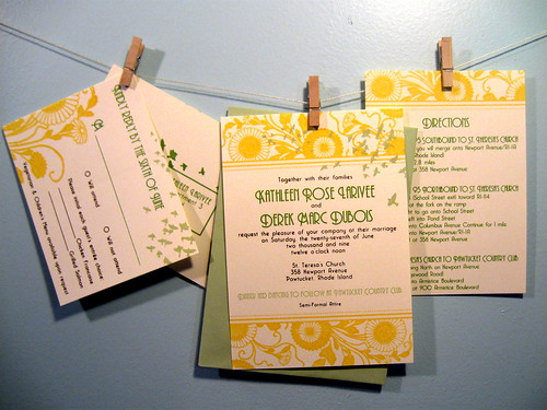 Kathleen & Derek's wedding invitations