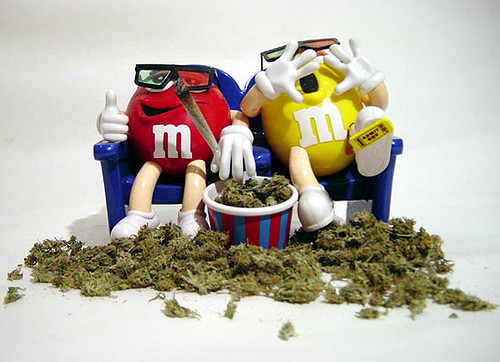 Funny M M Smoking Weed