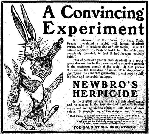 Vintage Ad #748: A Convincing Rabbit-Tested Experiment