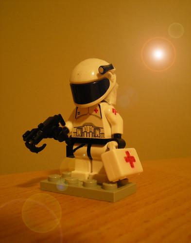 custom minifig space Medic