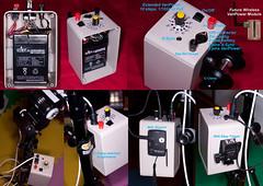 Vivitar 285HV battery pack with ext varipower (abbemu) Tags: cactus diy ebay battery pack wireless vivitar external trigger skyport sla 285hv strobist varipower