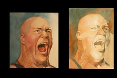 Kurt Angle practices