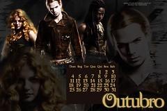Outubro- Calendrio (A Lua da Ana) Tags: twilight crepusculo calendrio