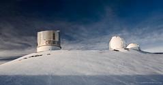 Mauna Kea Observatories (Rex Maximilian) Tags: snow hawaii observatory summit bigisland maunakea bigisle islandofhawaii subarutelescope 13803feetabovesealevel keckiii
