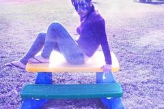 MYSELF. (Ally Newbold) Tags: selfportrait slr digital photoshop self canon myself allison table photography rebel mask tripod dream identity series killa extended meh cs3 xti