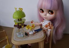 Fujiko playing