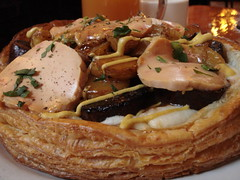 boudin and foie tarte