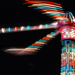 Centrifugal motion (StGrundy) Tags: longexposure carnival atlanta summer usa motion night dark georgia lights moving lowlight nikon nightshot unitedstates arms south hurricane roswell explore southern exposition rides rotating amusements bouncing fastpaced actionpacked weightlessness centrifugalforce explored d80 focallength35mm exposure025sec peachtreerides aperturef53 nikkor1855mmf3556gvr stomahwrenching