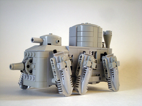 Walking Steampunk Mecha Tank