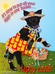 Happy Easter from Roxy and Her Mom! (faith goble) Tags: fab dog art photoshop easter happy spring artist photographer basket bluegrass kentucky ky faith egg card lucky creativecommons poet eggs writer ribbon bonnet vector bowlinggreen ecard bordercolliemix adobeillustrator 2011 bowlinggreenky goble hongkongphotos bowllinggreen theunforgettablepictures goldstaraward flickrcubismaward faithgoble ccbyfaithgoble gographix faithgobleart
