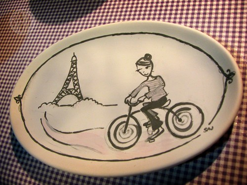 Paris in the Spring plate (un-fired)