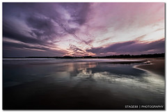 Sunset At Mollymook Beach (Sam Ili) Tags: sunset sea sky sun color beach silhouette clouds canon australia nsw dri hdr lucisart lucis mollymook shoalhaven explored 450d redbubble eurobodalla canon1022mm3545