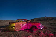"""Bleeding Out"" (Vacant West) Tags: old longexposure moon abandoned night stars nikon rust ruins mine desert decay nevada historic mining fullmoon ghosttown moonlight oldcar exploration gels rustycar miningtown rustedcar nevadadesert lightpaint d90 colorphotoaward nikond90club vacantwest"