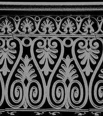decorative iron work (Creativity103) Tags: fence pattern fancy barrier verandah ornate decorate decotration