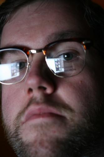 Me wearing said glasses