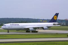 Lufthansa Airbus A340-211 D-AIBH (Flightline Aviation Media) Tags: atlanta airplane airport atl aircraft aviation jet airbus airlines lufthansa a340 canond30 stockphoto katl hartsfieldjacksoninternational a340211 bruceleibowitz daibh 246439