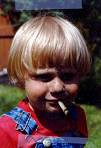 child smoking a cigarette