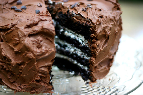 Stout Chocolate Cake w/ Irish Cream Frosting