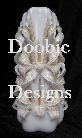 Carved Candle - By Doobie Designs