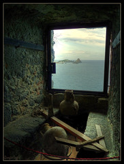 Dreaming From the Window of the Ancient Castle :: Faraglioni Aci Castello (Gio  Photostream) Tags: camera bridge lumix 1 photo lowlight bravo mood foto shot zoom photos mark contest panasonic iso sicily 5d odyssey 1ds castello better luminous hdr aci fotocamera faraglioni ulisse polifemo superzoom 3xp migliore photomatix odissea 18x tonemapping tonemap colorphotoaward fz28 reflectyourworld dmcfz28 giorgioleggio