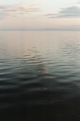 (Erin Eli) Tags: sky film water 35mm dark 50mm nikon fuji dusk jetty 200iso blend bombaybeach thesaltonsea