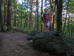 2 - Iz on a Rock on Lower Indian Seats Trail