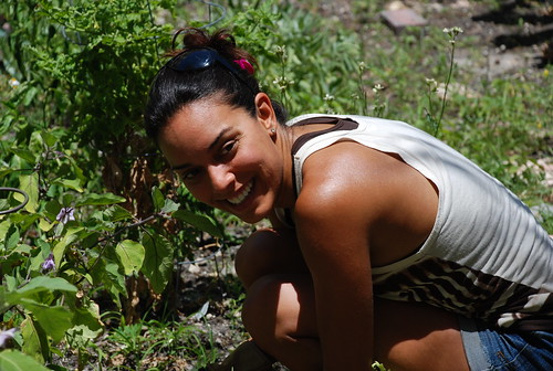 planting in the community garden in South Beach