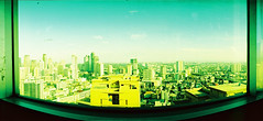 framed city (darkcanopy) Tags: city panorama building green film yellow analog 35mm buildings lomo xpro lomography crossprocessed kodak crossprocess horizon philippines wide wideangle slide panoramic slidefilm crossprocessing frame swinglens analogue 135 framing makati ph elitechrome analogphotography horizon202 lomograph eb yellowgreen russiancamera filmphotography metromanila kodakelitechrome xprod 120degrees kmz horizonperfekt lomohorizon xproing