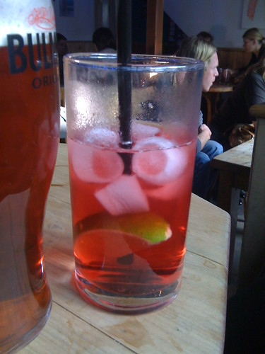 Vodka and Cranberry and Lime