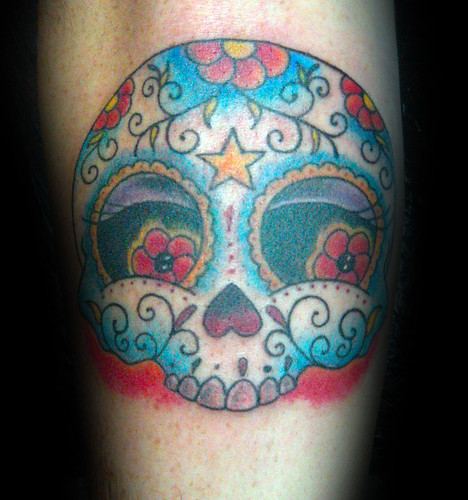 sugar skulls tattoos. tatuaje sugar skull pupa