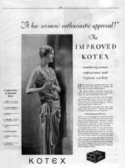 Lee Miller in Kotex ad (1928)