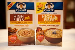 Quaker high fiber oatmeal