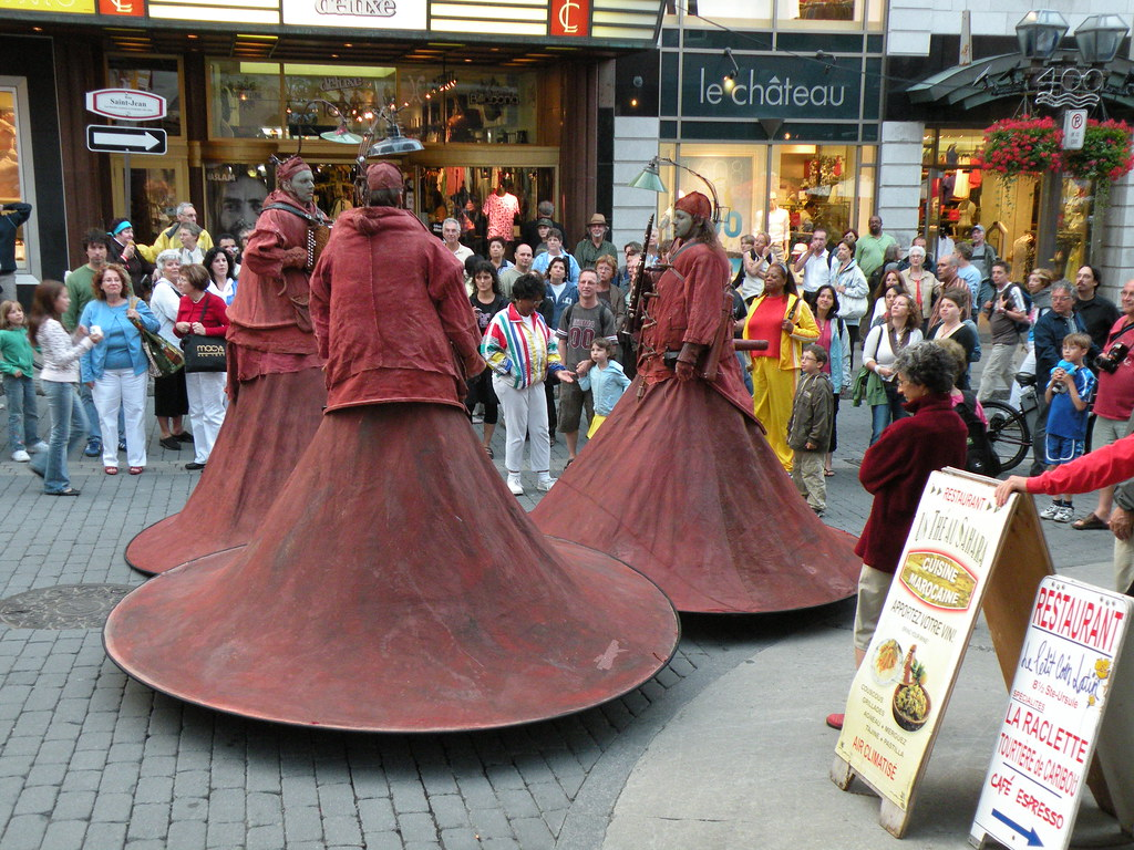 Street performers in Old Quebec City, Quebec, Canada