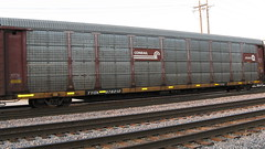 A former Conrail auto rack car in transit. Franklin Park Illinois. Thursday, June 18th 2009.