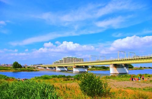 空と鉄橋(HDR)