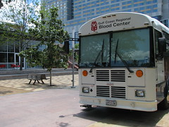 Commit for Life at Discovery Green (Gulf Coast Regional Blood Center) Tags: blooddrive kprc discoverygreen donorcoach