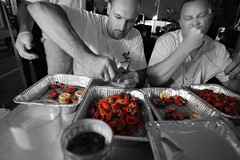 Crawdad Eating Competition 6.19.2009 (Notley) Tags: summer sky people june architecture clouds eating fair feira missouri callawaycounty fultonmissouri crawdad 2009 streetfair loyal 10thavenue notley ruralphotography fultonstreetfair notleyhawkins missouriphotography competitioneating crawdadeating crawdadeatingcompetition httpwwwnotleyhawkinscom notleyhawkinsphotography