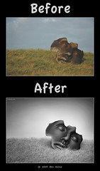 "Before/After - ""Thoughts Captivity"" (Ben Heine) Tags: travel light shadow wild sun holland reflection nature colors sepia photoshop season landscape photography countryside frames mac scenery glow colours photographie time nikond70 earth geometry lumire couleurs quality magic details shapes philosophy manipulation harmony poet photoediting planet photomontage terre trick portfolio conceptual curve paysage tones technique wacom retouching thehague tutorial edit rendering beforeafter specialeffects kleuren postprocessing avantaprs trucs digitalshot benheine effetsspciaux graphicenhancement editingtools tablettegraphique hubertlebizay hubzay flickrunited thoughtscaptivity"
