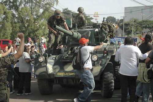 honduras represión adelante