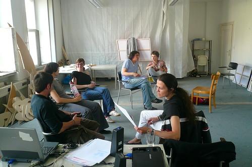 Freie Universität Frankfurt zum Thema Interferenzen zu Gast bei Atelierfrankfurt. Mai 2008