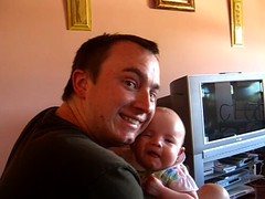 Smiling with Daddy (still frame from video)