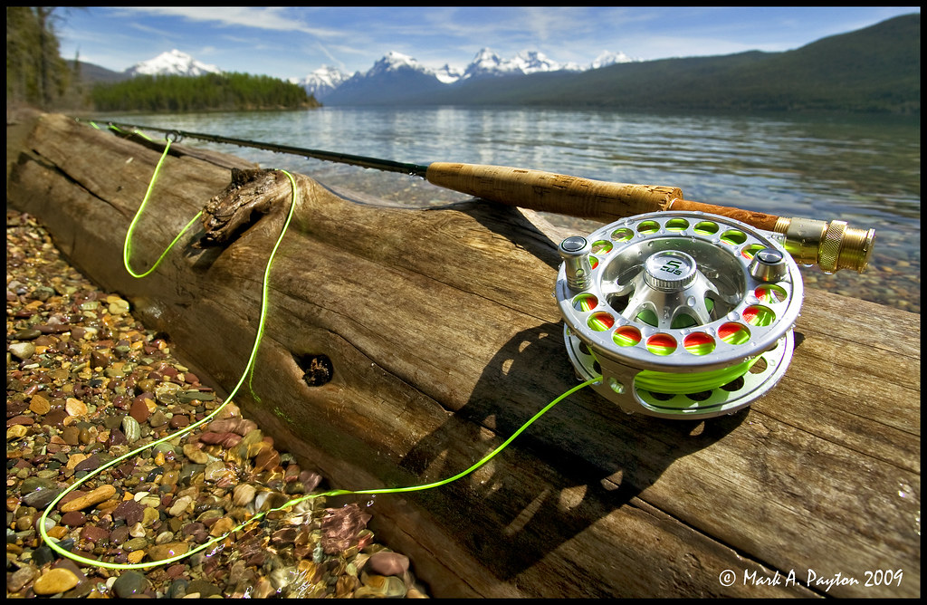 ... flyfishing flyreel orvis amoff. Hatch 5 Plus Reel on Log (Mark Payton Photography) Tags: canon montana wideangle