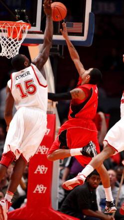 Dele Coker block shot Rutgers