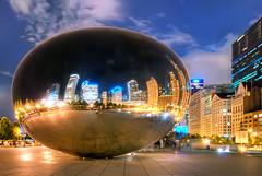 Cloud Gate (Sky Noir) Tags: park chicago illinois nikon loop sigma millennium cloudgate kapoor anish hdr skynoir bybilldickinsonskynoircom