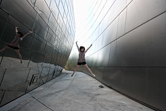 Me at the Disney Concert Hall [Copycat by Matt] (Corie Howell) Tags: portrait la hall jump concert copycat disney