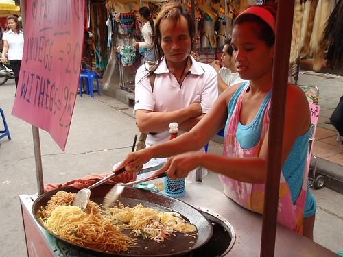 Comida típica de Khaosan Road
