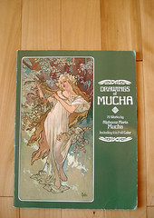 Drawings of Mucha (The Pairabirds) Tags: wood book floor artnouveau mucha artbook