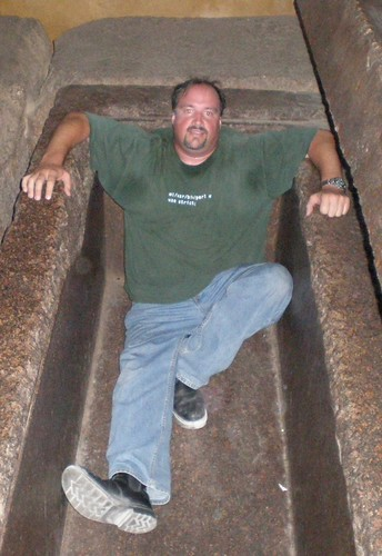 Relaxing in Khafre's tomb